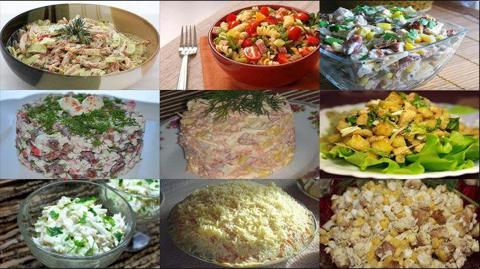Каждый салат из этих девяти подойдет для каждого дня и для праздничного стола. Они все очень простые!