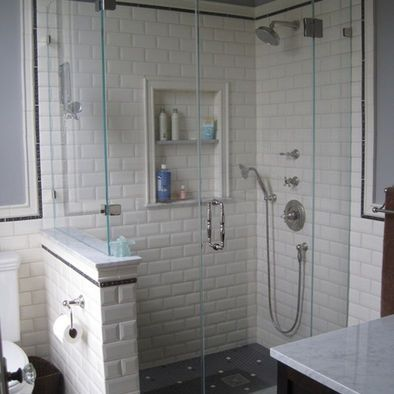 white beveled subway tile showerBeveled Subway Tile Shower Country House Pinterest VSlyHOJF