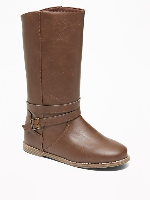 b7743528dae Tall Faux-Leather Buckled Boots for Girls in 2019 | Products ...