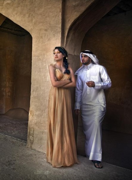 Hmmm modern islamic? couple ...in an arab country..not morocco when i look at the guy