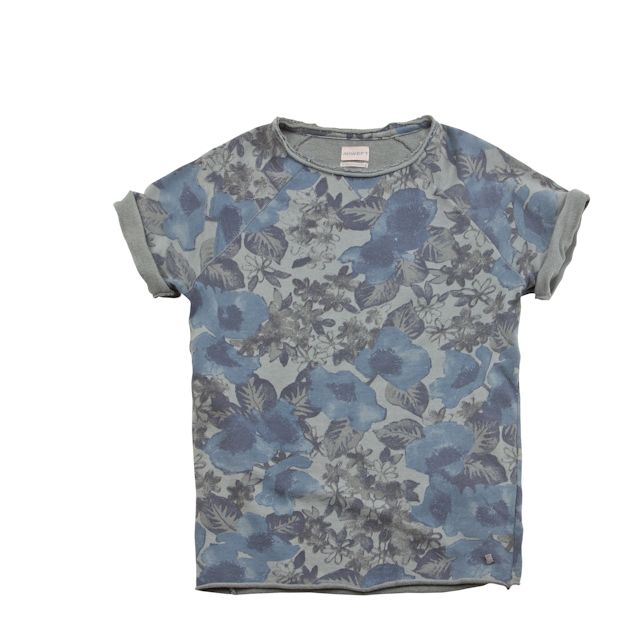 #40weft S/S 205 #menscollection #t_Shirt #lightfleece #flowerpattern #blue #grey #repin #contactus www.40weft.com