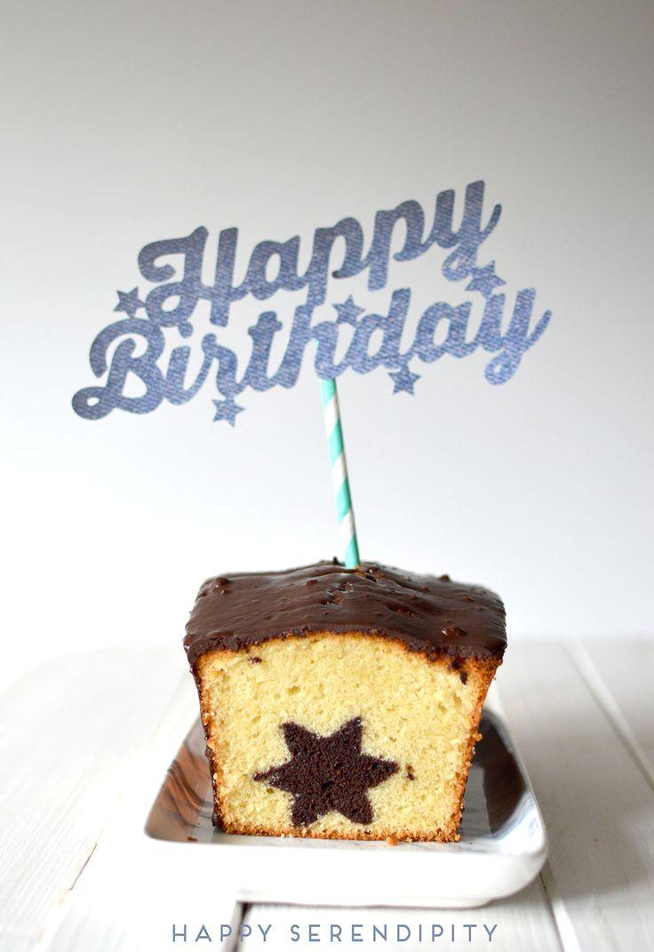 kostenlose plotterdatei für einen happy birthday cake topper und ein rezept für einen wunderbaren überraschungskuchen