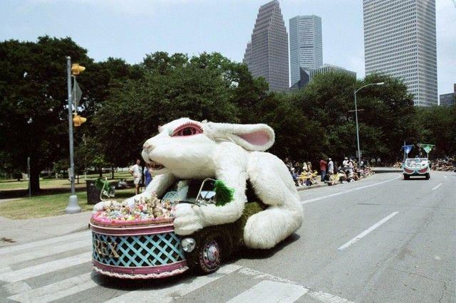 Rex Rabbit, artist Larry Fuente - Art Car Parade Houston #houinspired