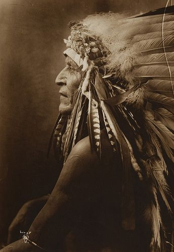+~+~ Antique Photograph ~+~+ Native American Indian ~ Horse Goes Ahead or Two Leggings 1910 by Richard Throssel