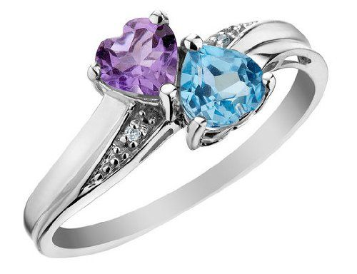 Heart Shaped Blue Diamond Engagement Ring