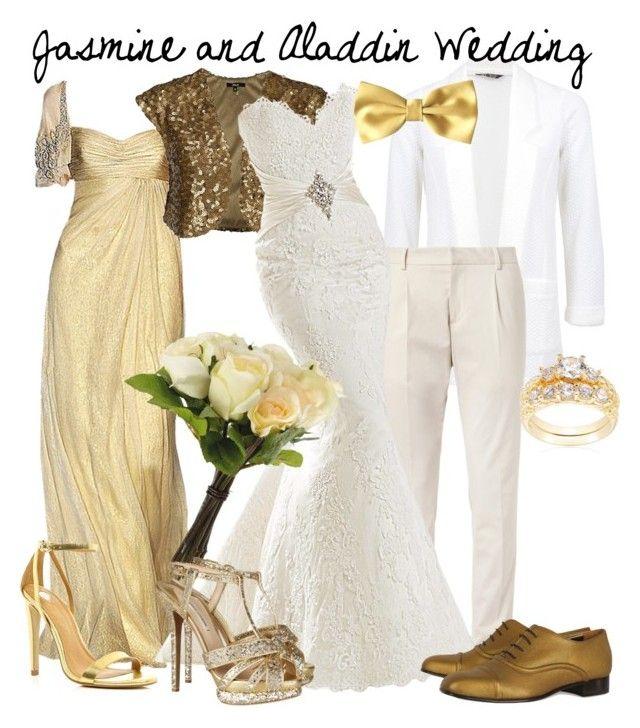 """Jamine and Aladdin wedding"" by jess-d90 ❤ liked on Polyvore featuring Gucci, Badgley Mischka, OKA, Nicholas Kirkwood, Lanvin, River Island, women's clothing, women's fashion, women and female"