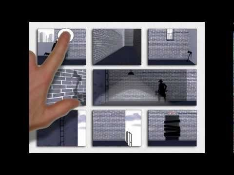 Framed Game Concept, currently in development. A visual interactive fiction, where you can rearrange the tiles to change the narrative pathway, and ending.