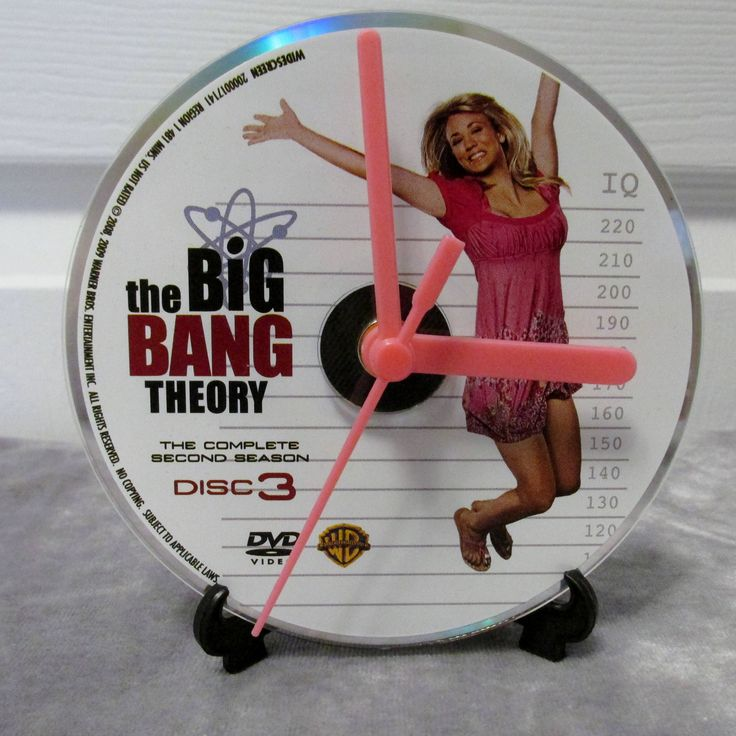 Big Bang Theory DVD Clock Upcycled TV Show - Penny by DarkStormTV on Etsy