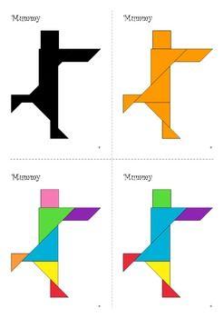 Tangram Freebie - Halloween Puzzle / Mummy - Puzzle Cards