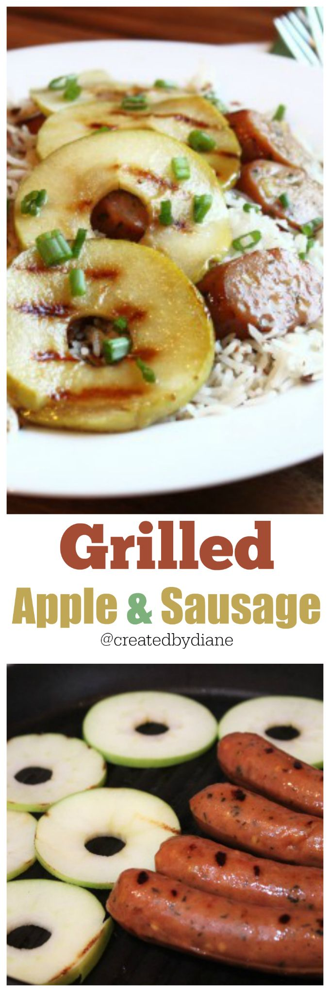 grilled apple and sausage @createdbydiane