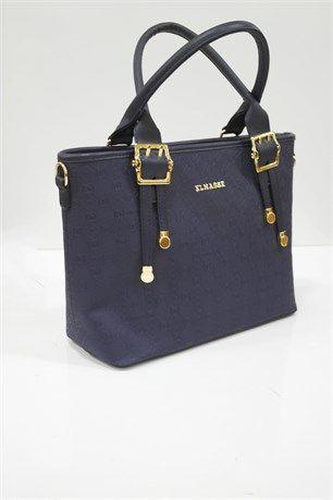 Tutmalı Şık Çanta - Lacivert - Elmas çanta modelleri, sırt çantası, yılan derisi, tutmalı çanta, çanta markaala.com.tr #moda #fashion #diy #tesettür #çanta