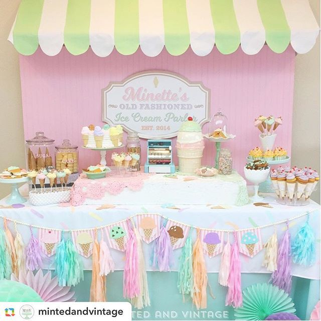 Old Fashioned Ice Cream Parlor Dessert Table From