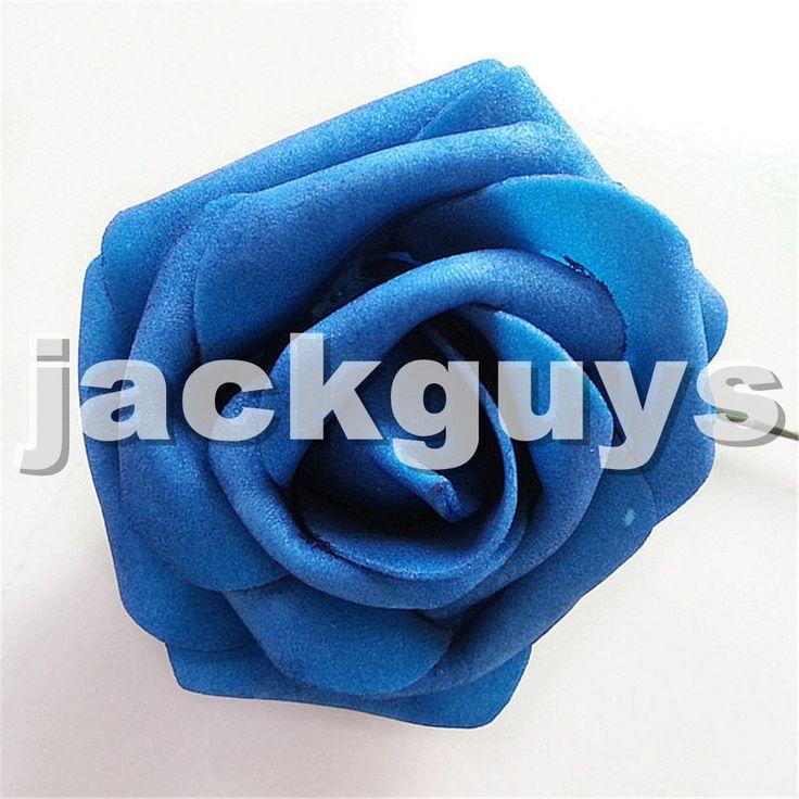 Ну вечеринку свадьба букет искусственный пена розы цветок главы арка цветок декор для дома цветочный декор 7 см лотов темно-синий