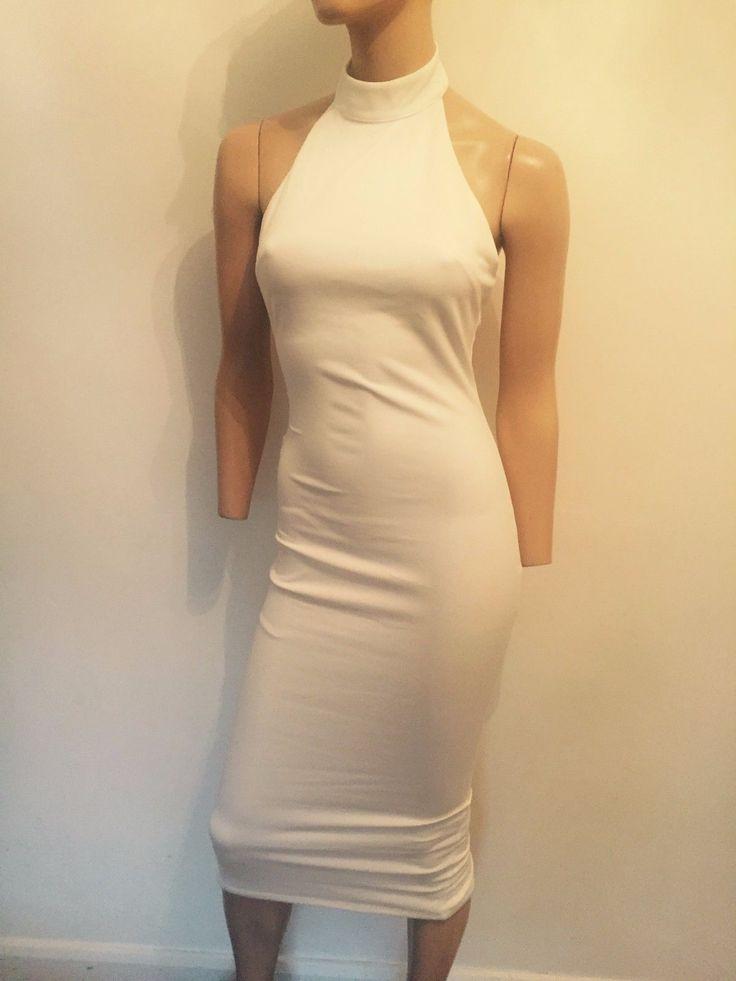 BELONGED TO KATIE PRICE BOSSA PRAGUE IVORY WHITE PLUNGING BACK DRESS UK 8 /10   eBay