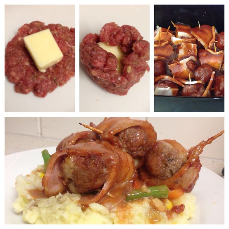 Sticky BBQ cheese meatballs