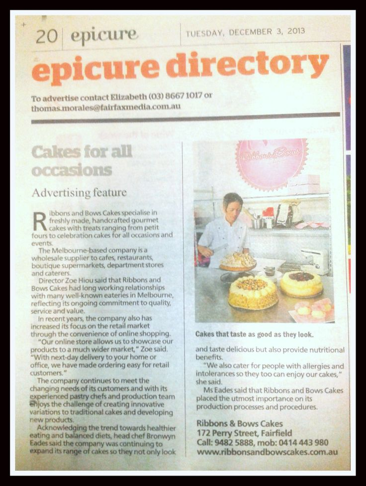 Our Feature in Epicure 3rd December