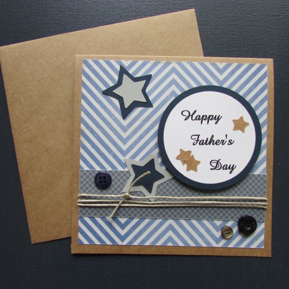 Father's Day card-Handmade cardsmasculine by HabitatHaven on Etsy