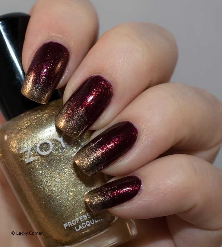 Diy Autumn Gradient Nail Art: Gradient And Ombre Images On Pinterest