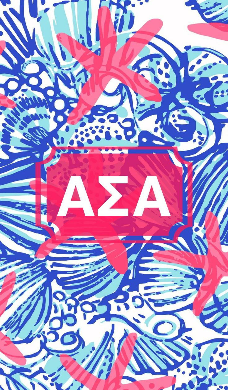 Alpha Sigma Alpha monogram background