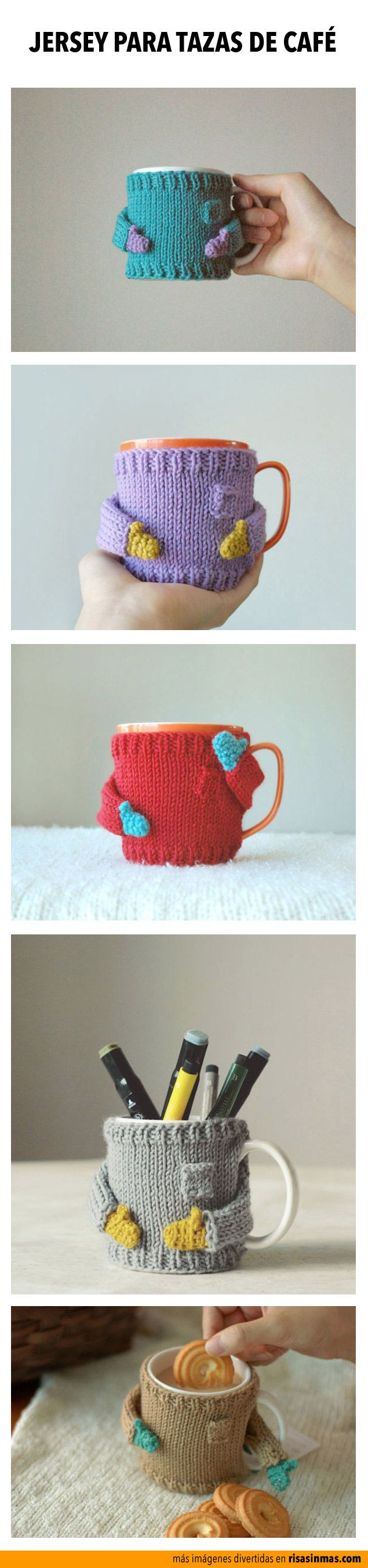 Ponle un jersey a tu taza de café.
