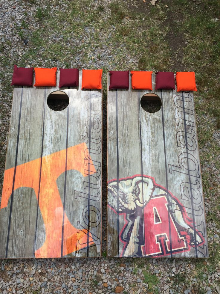 Tennessee corn hole boards. Alabama corn hole boards.