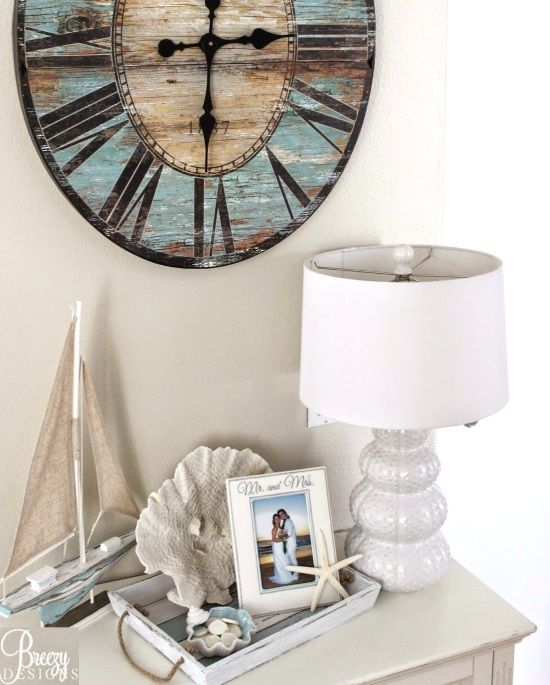 Beach Vignette with Tray. I already have the sail boat!
