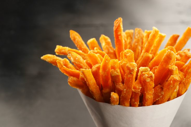 Trim Healthy Mama-Sweet Potato Fries have to be one of our favorite go to 'E' meals! When you have a snack attack and your craving a hand to mouth kinda dish, whip up this easy batch of fries that offer a salty and sweet treat the w