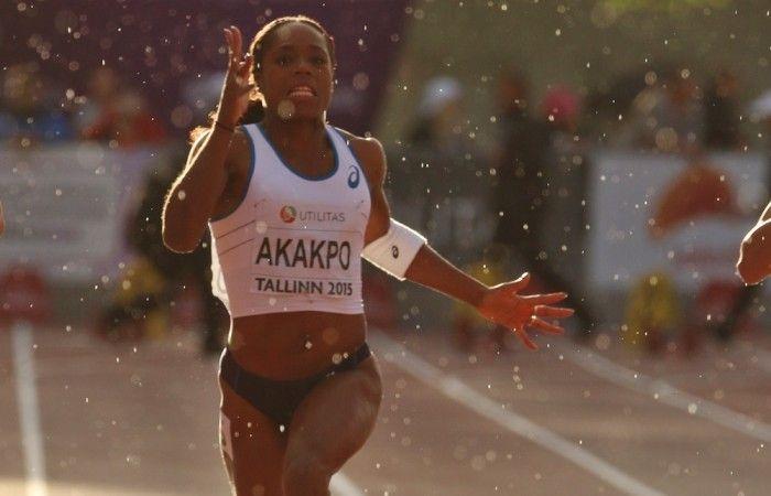 Stella Akakpo, team benestar~, en plein finish à Tallinn.  #benestarfrance #teambenestar #stellaakakpo #athletisme www.benestar-france.fr