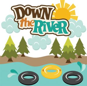 Down The River SVG scrapbook files tubing svg files outdoors svg cut files river rafting cut files for scrapbooking