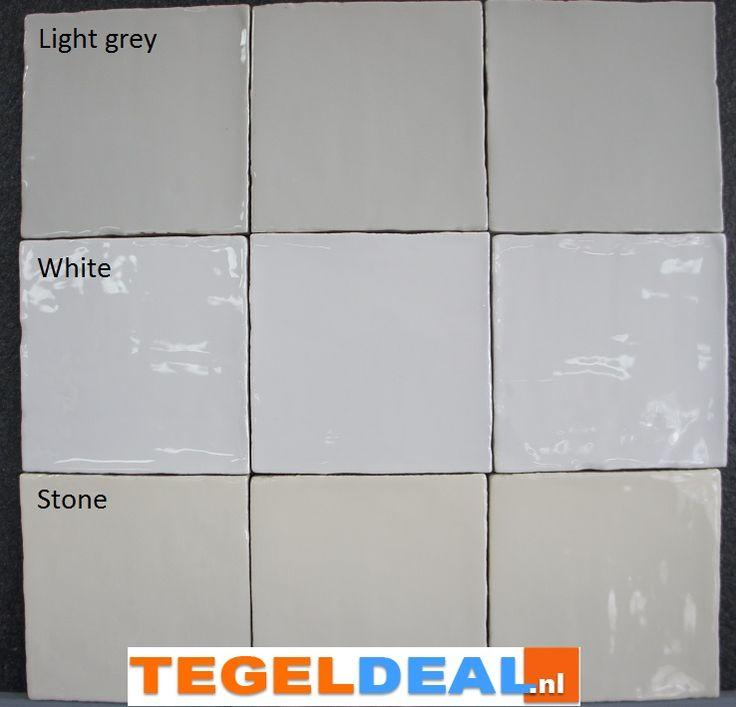 Tegels Limburg - Friese witjes, Stone, 13x13 cm á 34,00, handvorm wandtegel - Tegeldeal.nl