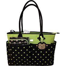 "Carter's Monkey Tote Bag - Brown/Green Dot - Carters - Babies ""R"" Us"
