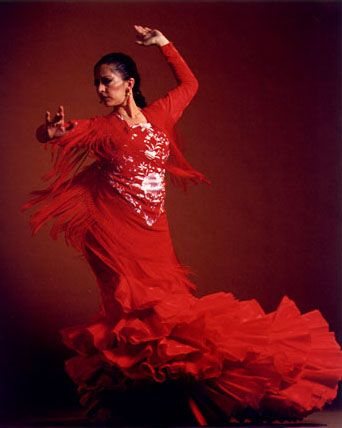 Flamenco, beautiful red dress