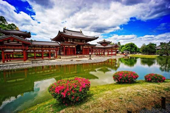 THE PHOENIX HALL OF BYODOIN TEMPLE, KYOTO