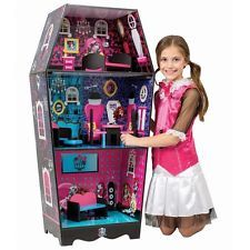 Monster High Doll House Includes 7 Pieces Of Furniture Brand New