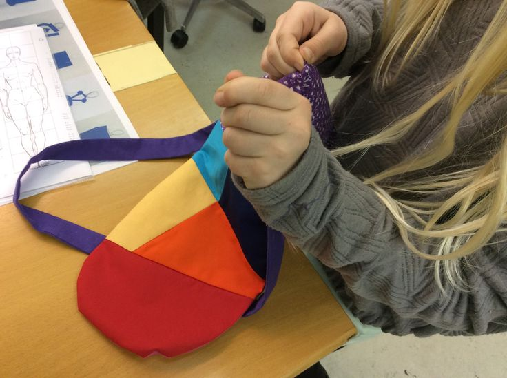 Julie working with block colour