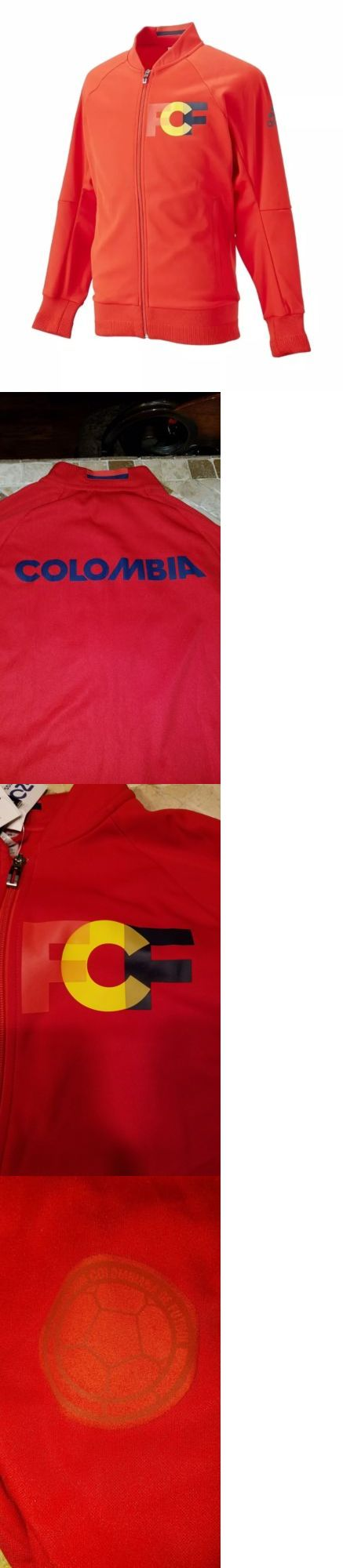 Men 123490: Adidas Colombia 2016 Men S Anthem Jacket Red 1604 Sz M -> BUY IT NOW ONLY: $60 on eBay! http://feedproxy.google.com/fashiongoshoesa
