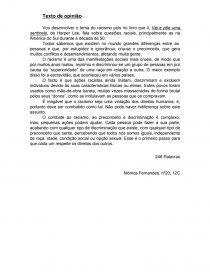 Texto de opiniao sobre o racismo - Trabalho acadêmico - monicaroquef