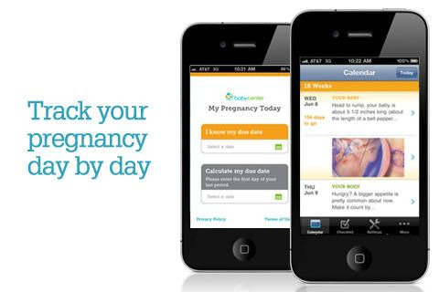 My Pregnancy Today App – Pregnancy App for iPhone, iPod Touch, and Android. It gives you a pregnancy day by day guide and information, fetal development images, pregnancy checklist with activities and reminders for doctor appointments, and more, videos, a due date calculator and nutrition guide.