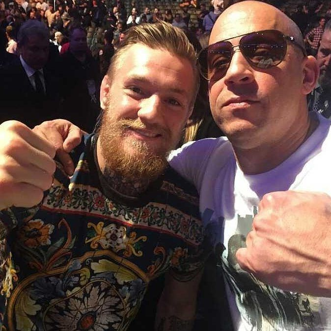 """3,229 Likes, 5 Comments - Conor McGregor (@thenotorioussmma) on Instagram: """"Conor McGregor and Vin diesel @TheNotoriousMma  -----------------------------------------------…"""""""