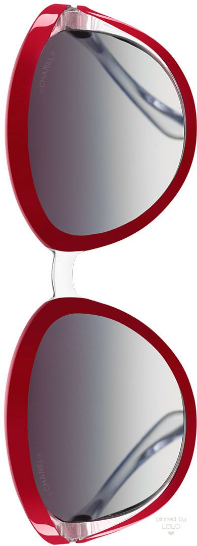 Chanel Oval Runway Red Frame Sunglasses | LOLO❤