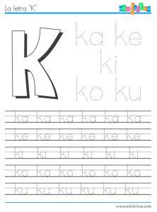 silabas con k abecedario pinterest spanish worksheets spanish and worksheets. Black Bedroom Furniture Sets. Home Design Ideas