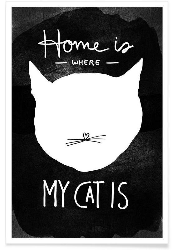 Cat als Premium Poster von typealive | JUNIQE ab 12.-