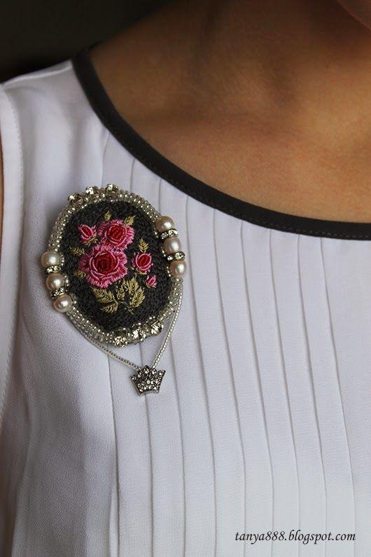 Татьянина мастерская: Гладь и объемная вышивка