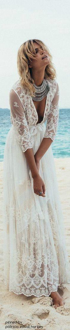 Glamorous Bohemian Chic / karen cox.  boho lace