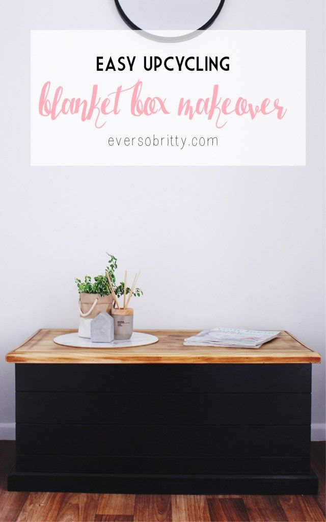 Easy Blanket Box Makeover - Furniture Upcycling for Beginners -  Find more fun crafts, DIYs, home decor and recipes at EverSoBritty.com