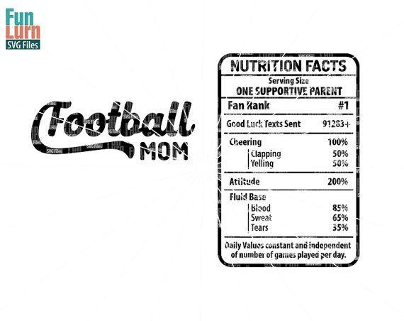 Football Mom Nutrition Facts SVG  Football Mom by FunLurnSVG
