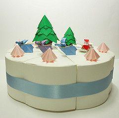 Christmas cake (paper folding artist redpaper) Tags: