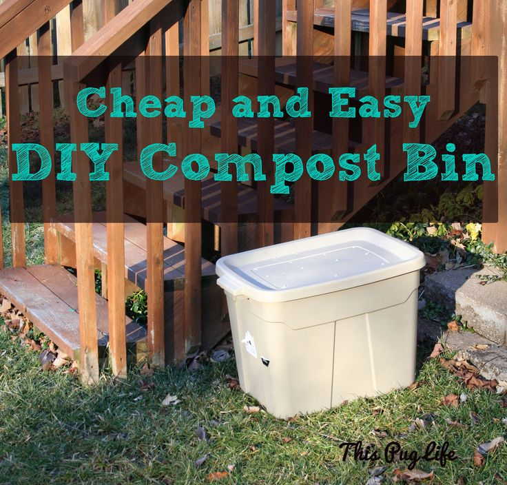 The 25 best diy compost bin ideas on pinterest outdoor for Diy dustbin ideas