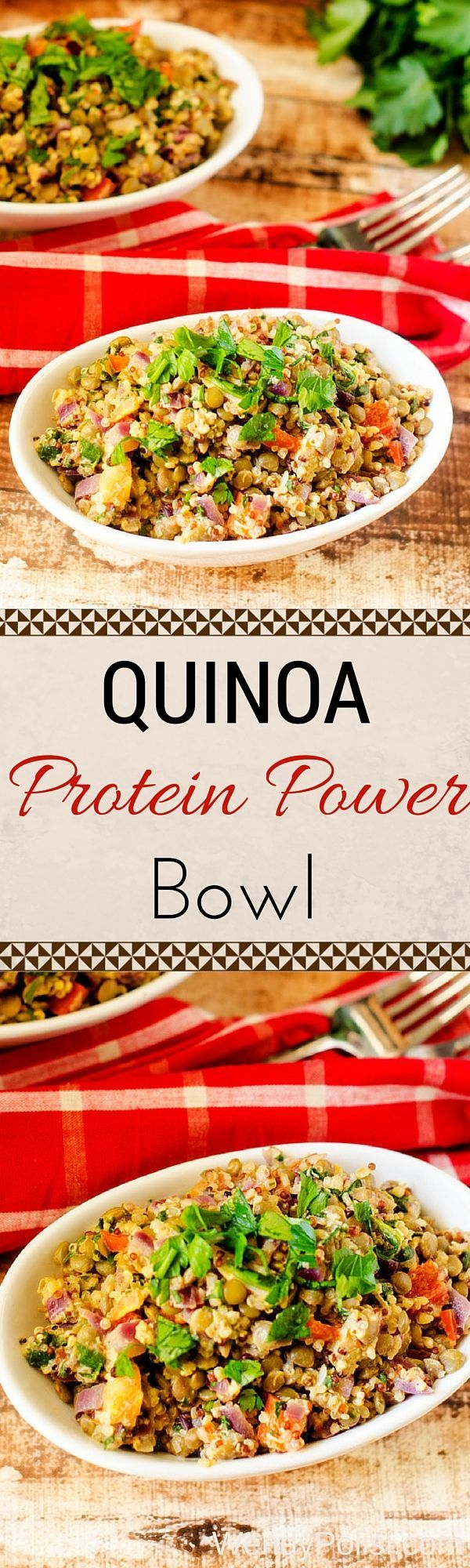 Quinoa Protein Power Bowl with Lemon Tahini Sauce - This quinoa bowl is easy to make, delicious and so satisfying!