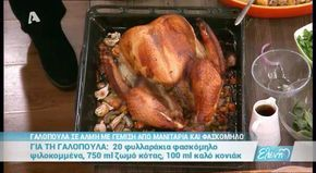 ΓΑΛΟΠΟΥΛΑ ΣΕ ΑΛΜΗ ΜΕ ΓΕΜΙΣΗ ΑΠΟ ΜΑΝΙΤΑΡΙΑ ΚΑΙ ΦΑΣΚΟΜΗ - alphatv menegaki,,,#turkey #christmas #brine ...used this recipes brine